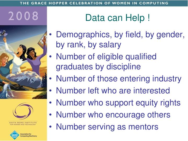 Data can Help !