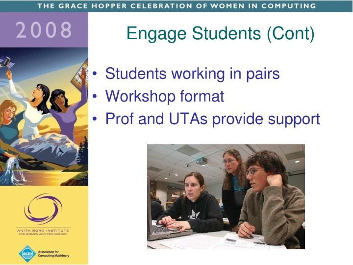 Engage Students (Cont)