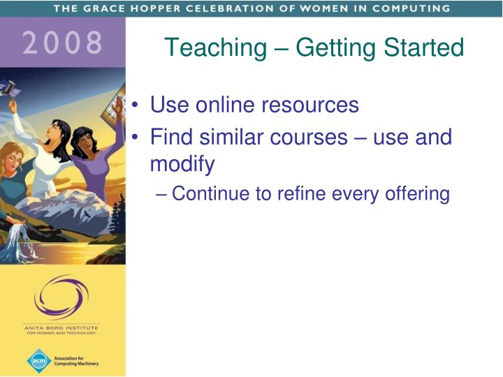 Teaching – Getting Started