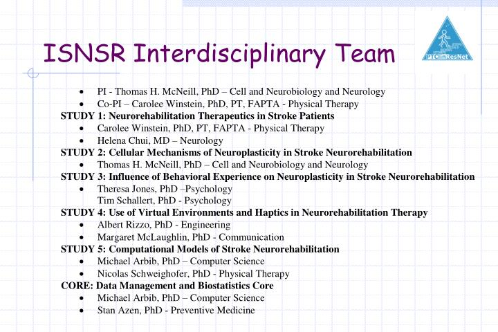 ISNSR Interdisciplinary Team