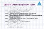 isnsr interdisciplinary team