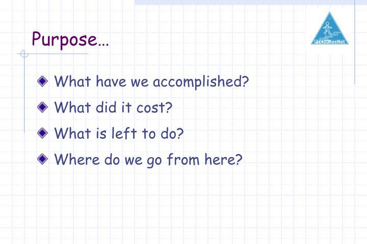 Purpose…