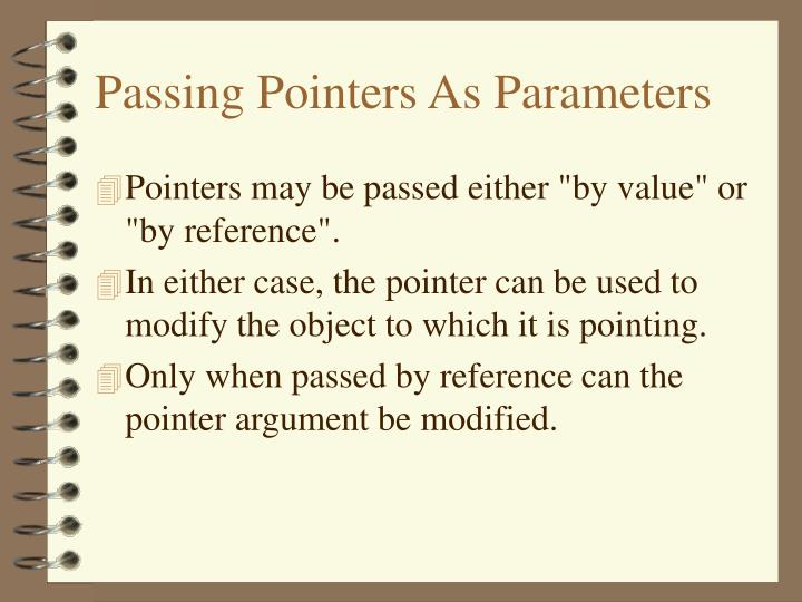 Passing Pointers As Parameters