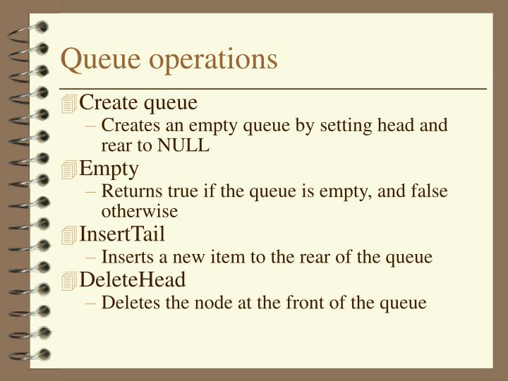 Queue operations
