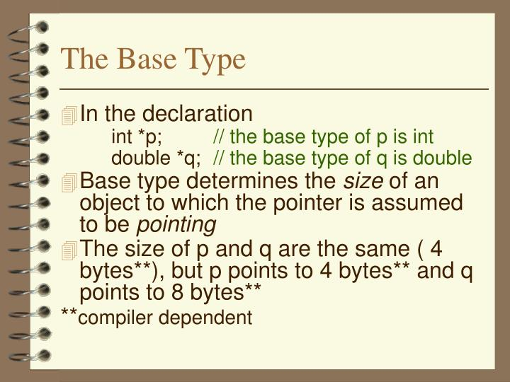 The Base Type