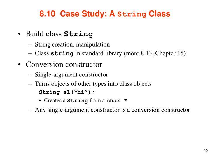 8.10  Case Study: A