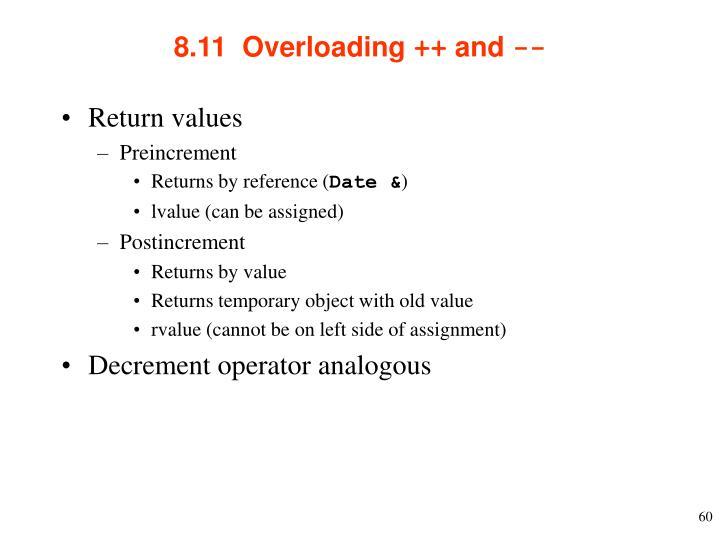 8.11  Overloading