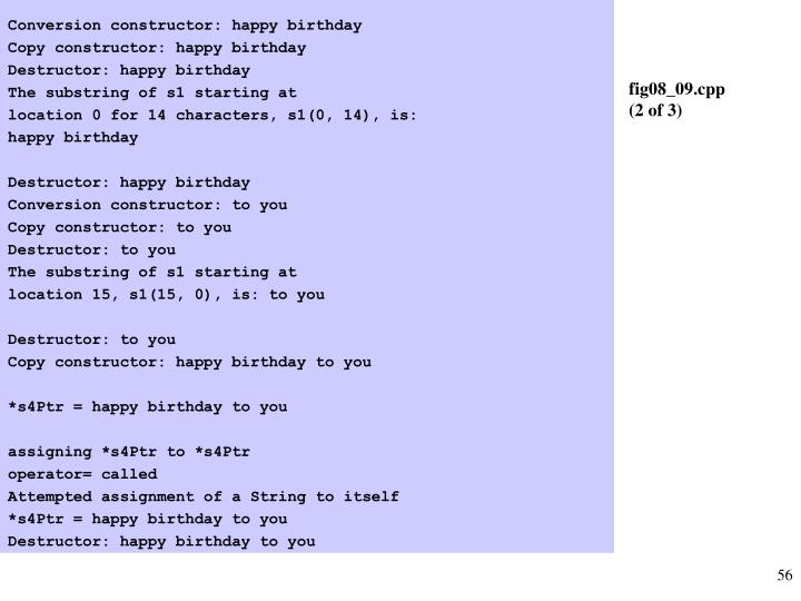 Conversion constructor: happy birthday