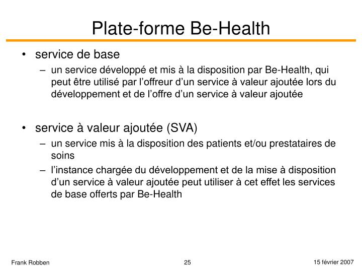 Plate-forme Be-Health