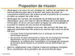 proposition de mission