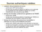 sources authentiques valid es