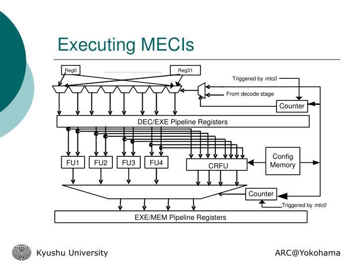Executing MECIs