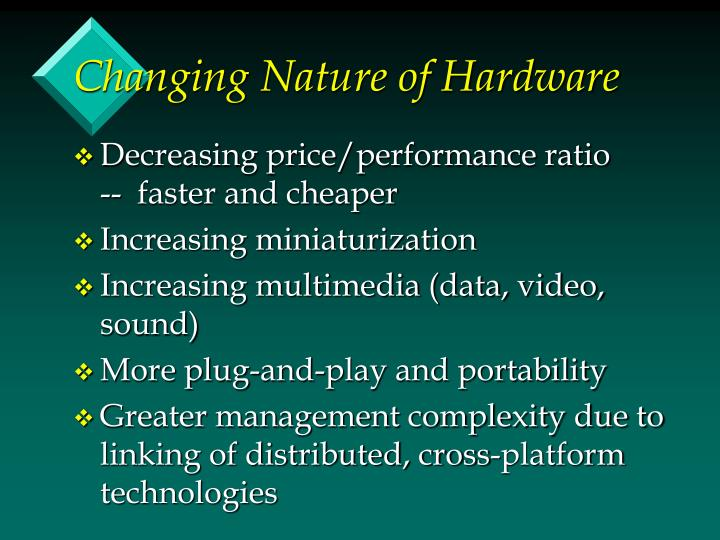 Changing Nature of Hardware