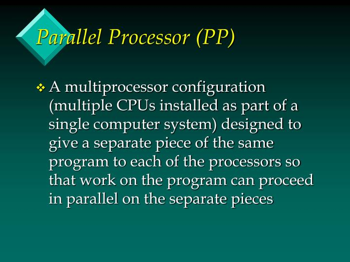 Parallel Processor (PP)