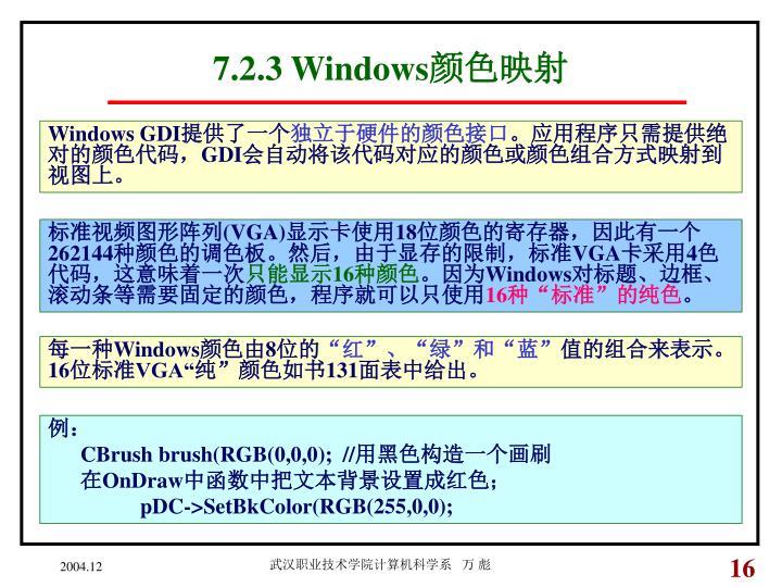 7.2.3 Windows