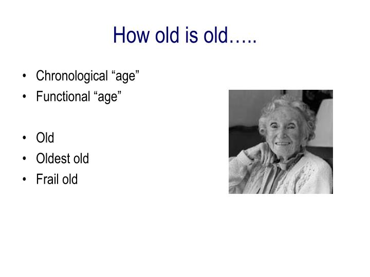 "Chronological ""age"""