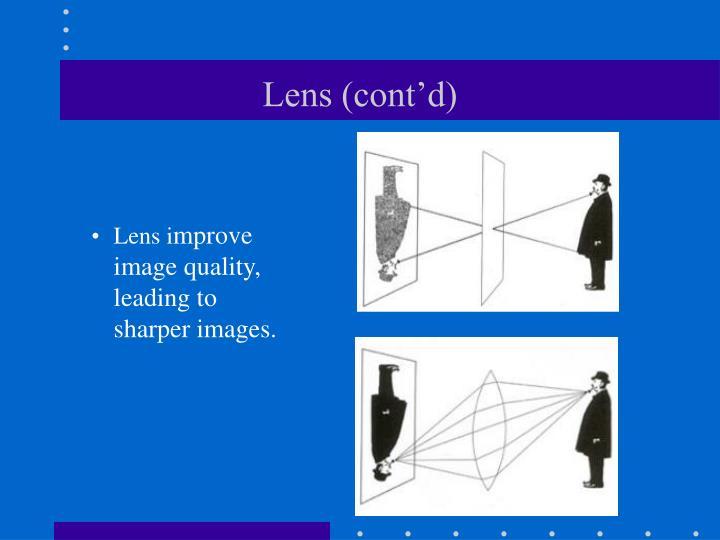 Lens (cont'd)