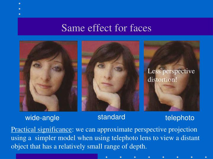 Same effect for faces