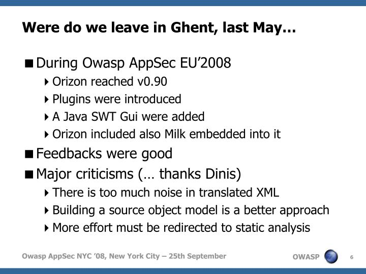 Were do we leave in Ghent, last May…