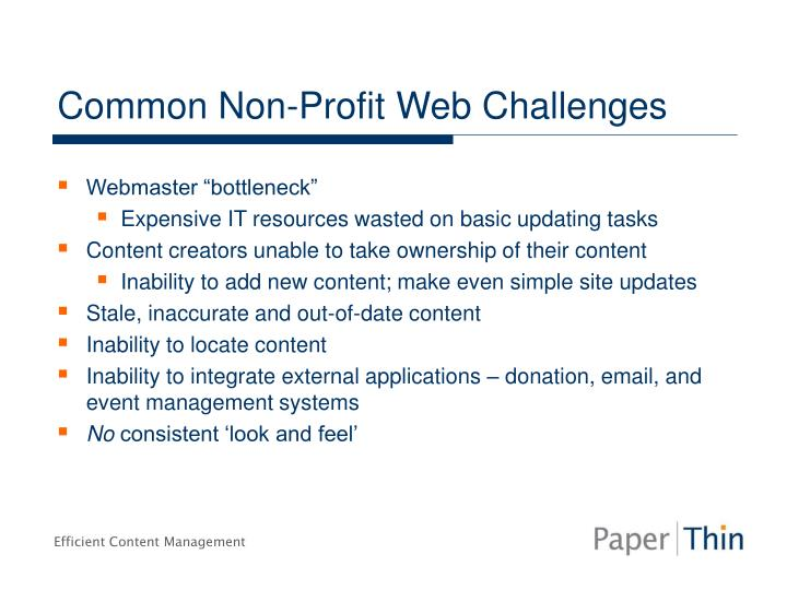 Common Non-Profit Web Challenges