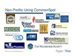 non profits using commonspot