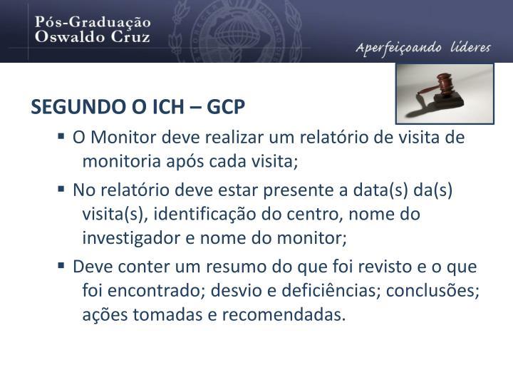SEGUNDO O ICH – GCP