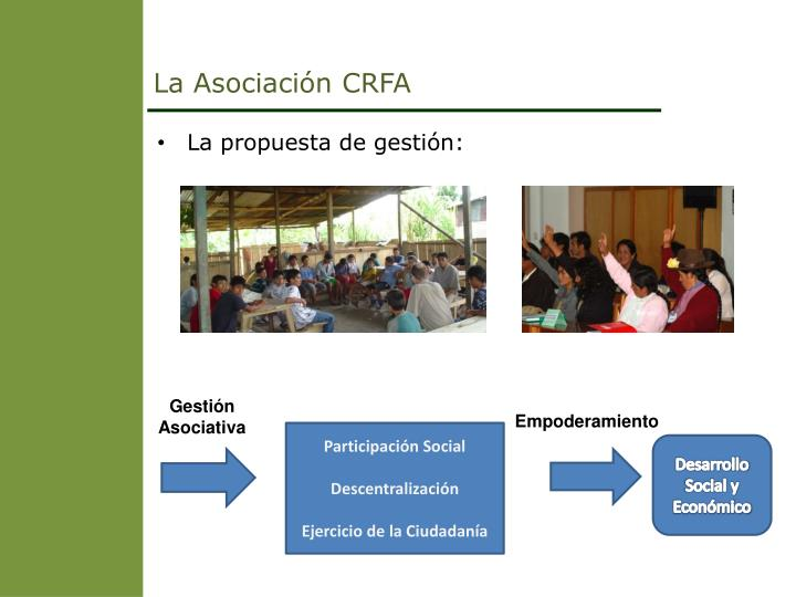 La Asociación CRFA