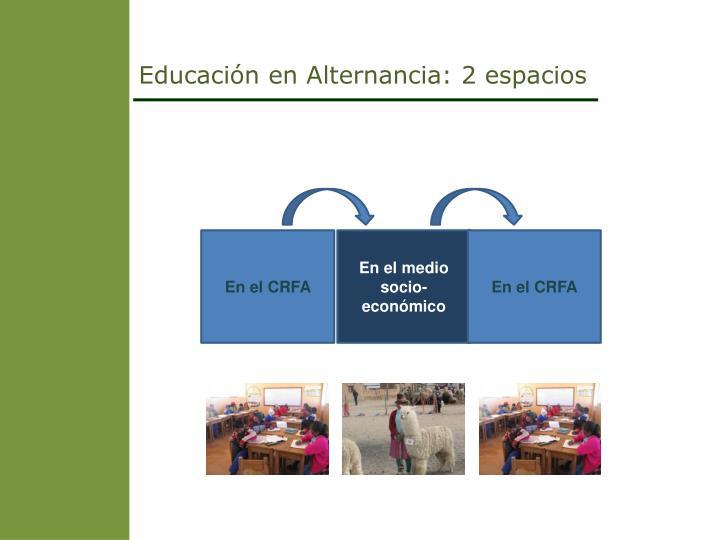 Educación en Alternancia: 2 espacios