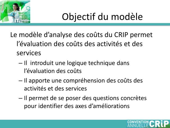 Objectif du modèle