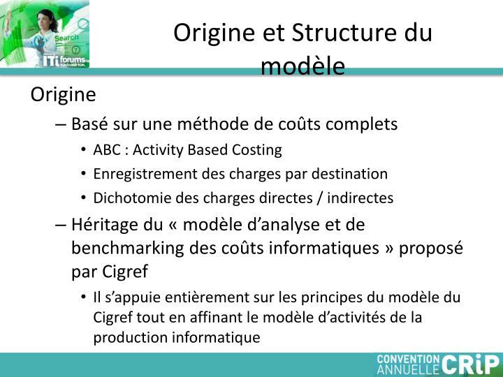 Origine et Structure du modèle