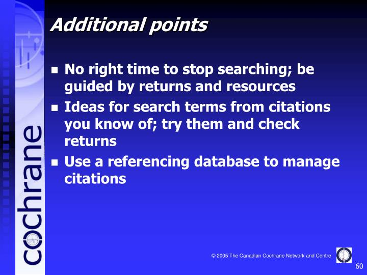 No right time to stop searching; be guided by returns and resources