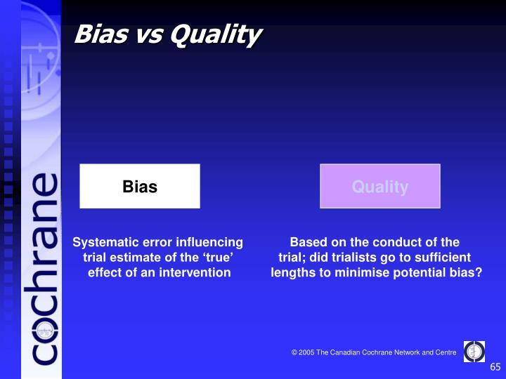 Bias vs Quality