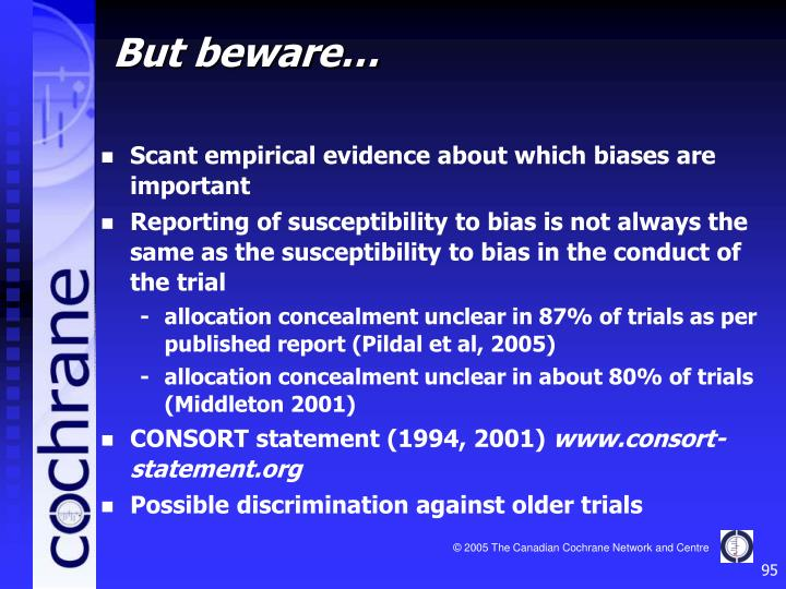 Scant empirical evidence about which biases are important