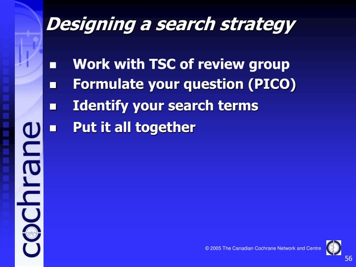 Work with TSC of review group