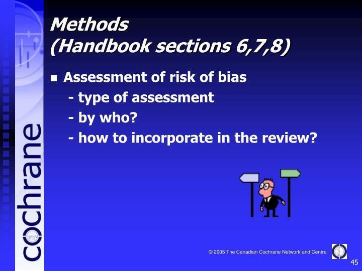 Assessment of risk of bias