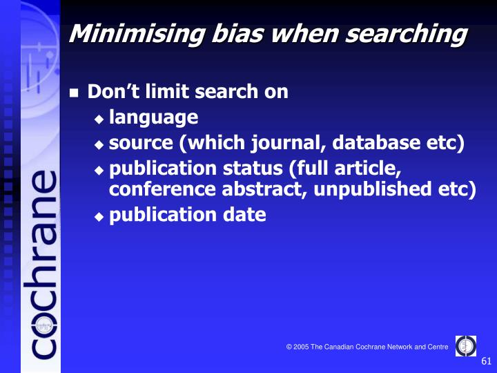 Don't limit search on