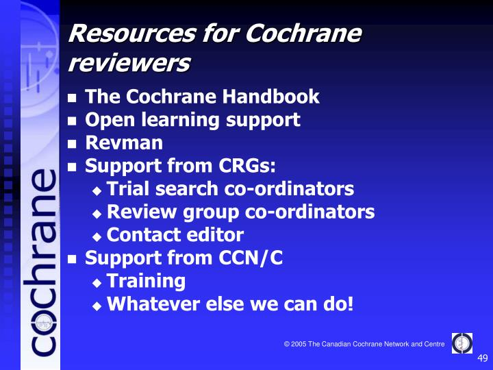 The Cochrane Handbook