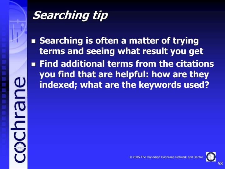 Searching is often a matter of trying terms and seeing what result you get