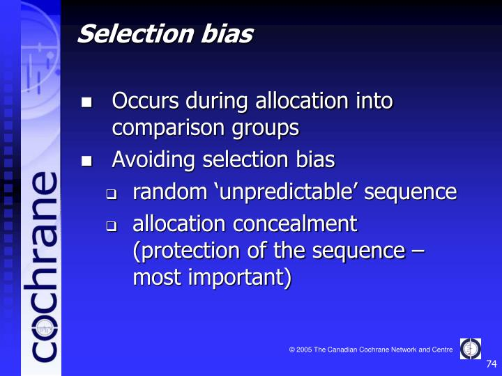 Occurs during allocation into comparison groups