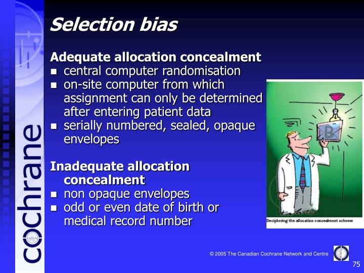 Adequate allocation concealment