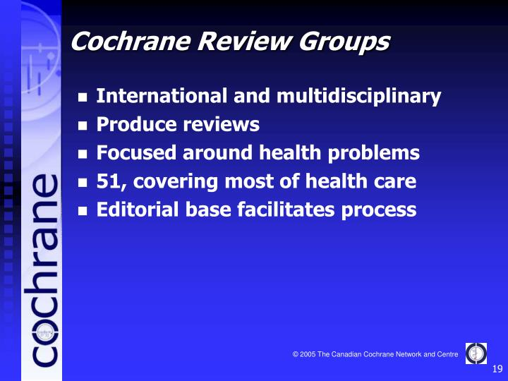 Cochrane Review Groups