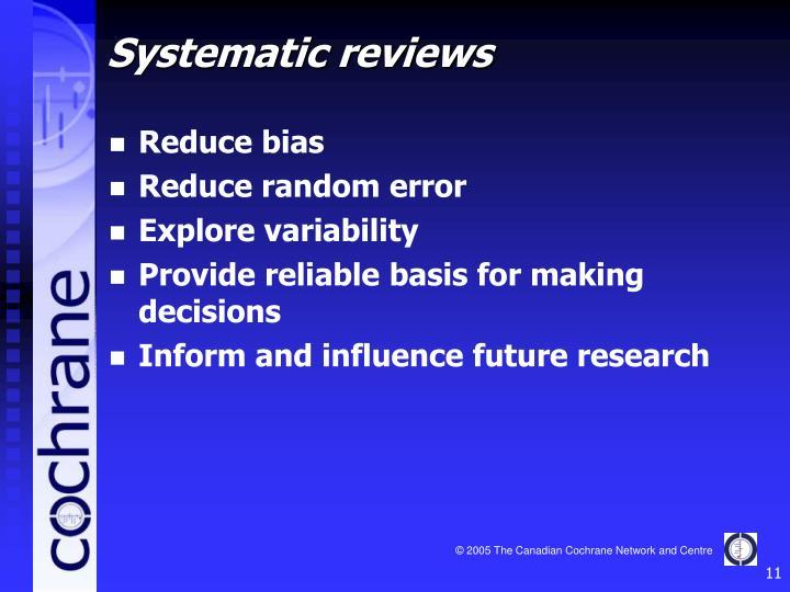Reduce bias