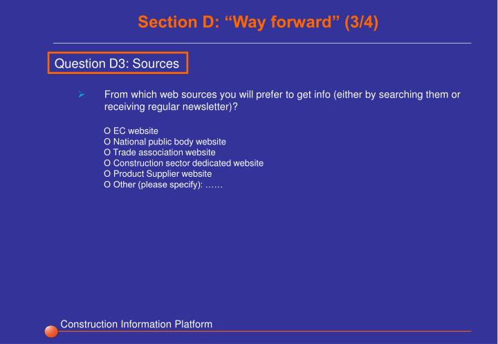 "Section D: ""Way forward"" (3/4)"