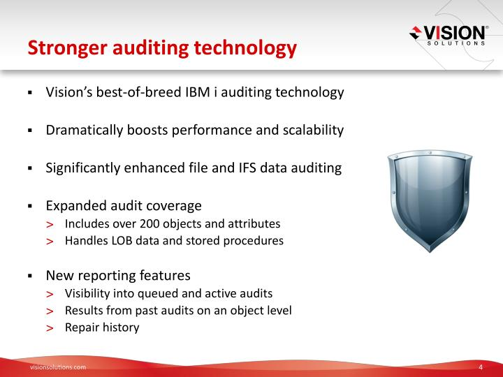 Stronger auditing technology