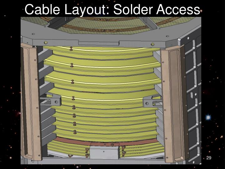 Cable Layout: Solder Access