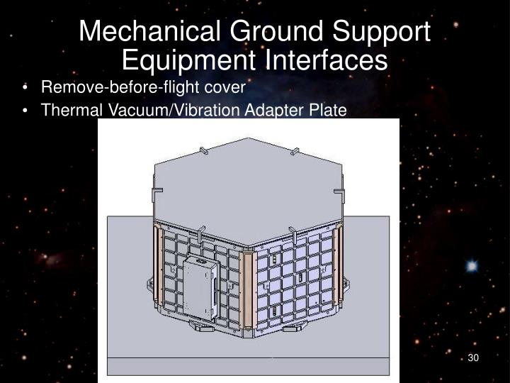 Mechanical Ground Support Equipment Interfaces