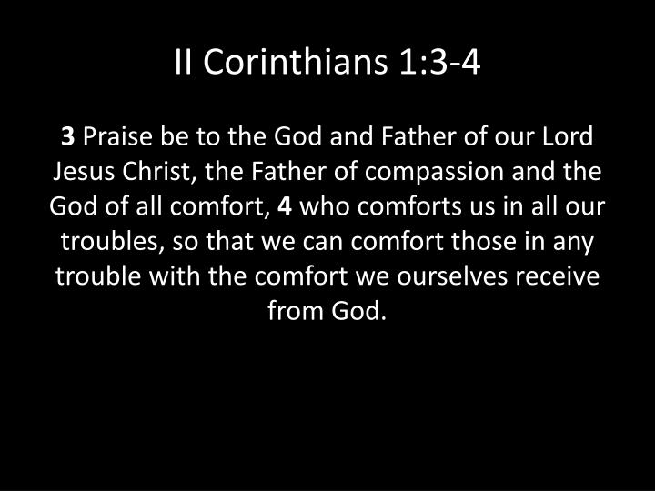 II Corinthians 1:3-4