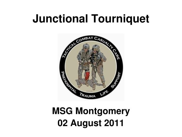 Junctional tourniquet