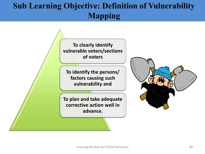 Sub Learning Objective: Definition of Vulnerability Mapping