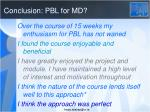 conclusion pbl for md